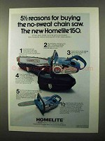 1971 Homelite 150 Chainsaw Ad - Reasons for Buying