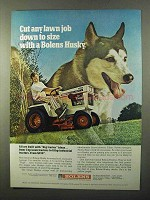 1971 Bolens 1256 Lawn Tractor Ad - Cut Down to Size