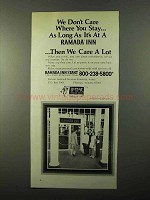 1971 Ramada Inn Ad - We Don't Care Where You Stay
