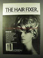 1971 L'Oreal Ineral Ad - The Hair Fixer