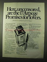 1971 Arpege Promise Perfume Ad - Here, Uncensored