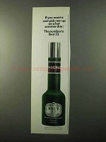 1971 Faberge Brut 33 Cologne Ad - A Cool Pick-Me-Up