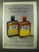 1971 Coty Succes by Night, Succes by Day After Shave Ad