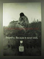 1971 Coty Imprevu Perfume Ad - Because it Never Ends