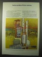 1971 UOP Universal Oil Products Ad - We Have Solutions