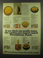 1971 Pennsylvania Egg Noodles Ad - If You Think