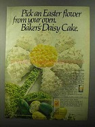 1971 Baker's Coconut Ad - Easter Flower From Oven