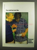 1971 Career Club Shirts Ad - The Midi That Men Like