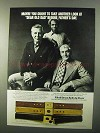 1971 Paris Fife & Drum Belts Ad - Look at Dear Old Dad