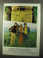 1971 Levi Cone Corduroy Pants Ad - In Today's World