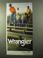 1971 Wrangler Jeans Advertisement - Wremember W is Silent