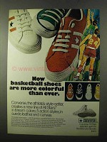 1971 Converse All Stars Shoes Ad - Basketball Colorful