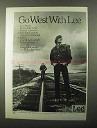 1971 Lee Riders Jeans Ad - Go West With Lee