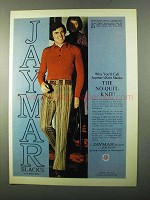 1971 Jaymar Slacks Ad - The No-Quit-Knit