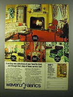 1971 Waverly Fabrics Ad - 4 Exciting New Collections