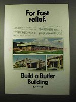 1971 Butler Buildings Ad - For Fast Relief
