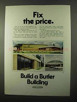 1971 Butler Buildings Ad - Fix The Price