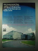 1971 PPG LHR Glass Ad - Westinghouse Nuclear Center