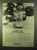 1971 Caterpillar Tractor Co. Ad - An Apple A Day