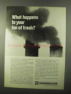 1971 Caterpillar Tractor Co. Ad - Your Ton of Trash
