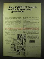 1971 Control Data CYBERNET Data Center Ad - Nuclear
