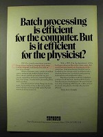 1971 Digital PDP-10 Computer Ad - Batch Processing