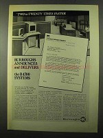 1971 Burroughs B4700 Computer System Ad