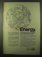 1971 Joy Manufacturing Company Energy Recovery Ad