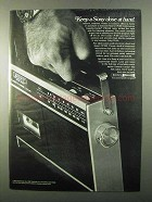 1971 Sony CF-200 Cassette-Corder Ad - Close at Hand