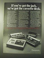 1971 Panasonic Cassette Deck Ad - RS-270US, RS-275US