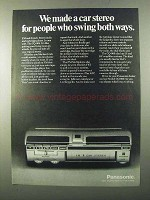 1971 Panasonic CQ-909 Car Stereo Ad - Swing Both Ways