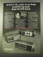 1971 Panasonic RC-6530 RC-1280 RC-7469 Clock Radio Ad