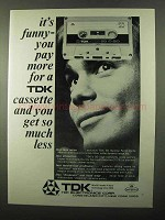 1971 TDK Cassette Tape Ad - It's Funny You Pay More