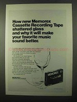 1971 Memorex Cassette Tape Ad - Shattered Glass
