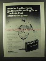 1971 Memorex Cassette Tape Ad - Can Shatter Glass