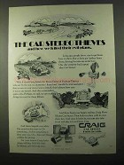 1971 Craig Car Stereo Ad - 3125, 9718, 3124 and 3123