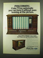 1971 Philco TV Ad - Tune It Without Looking