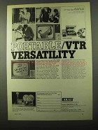 1971 Akai VTS-110 DX Video Tape Recorder System Ad