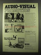 1971 Akai VT-100 Portable Video Tape Recorder Ad