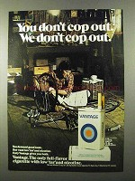 1971 Vantage Cigarettes Ad - We Don't Cop Out