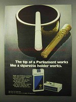 1971 Parliament Cigarettes Ad - Like a Cigarette Holder
