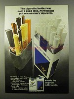 1971 Parliament Cigarettes Ad - Holder Was A Good Idea