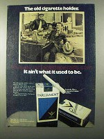 1971 Parliament Cigarettes Ad - Old Cigarette Holder