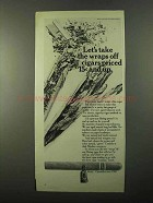 1971 Bering Cigars Ad - Let's Take the Wraps Off