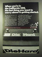 1971 Sears DieHard Batteries Ad - in California 500
