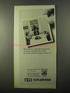 1971 GTE Sylvania Blue Dot Flash Ad, Pictures of Thanks
