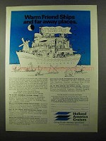 1971 Holland America Cruises Ad - Warm Friend Ships