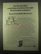 1971 The Bankers Life Ad - Help Choose Right Company