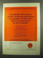 1971 IDS Investors Stock Fund Ad - Like Information