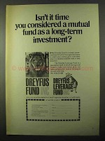 1971 Dreyfus Fund Ad - A Long-Term Investment